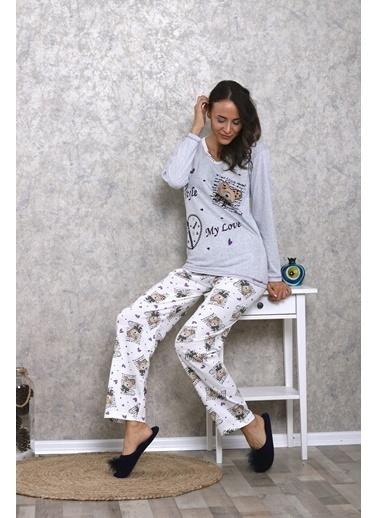 Lingabooms Pijama Takım Gri